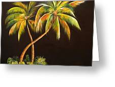 Golden Palms 2 Greeting Card