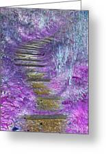 Golden Path Down To Rosslyn Glen Greeting Card