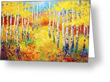 Golden Path Greeting Card by Marion Rose