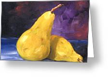 Golden Pears Greeting Card