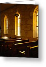 Golden Pews Greeting Card