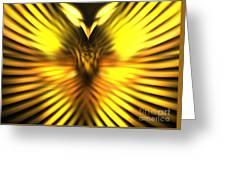 Golden Phoenix Greeting Card
