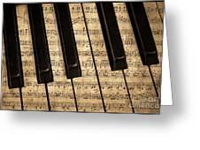 Golden Pianoforte Classic Greeting Card