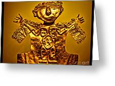 Golden Priest Statue Greeting Card