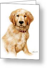 Golden Pup Greeting Card
