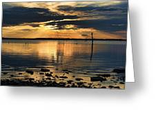 Golden Rays At Sunset Greeting Card