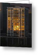 Golden Reflections Of Honolulu Greeting Card
