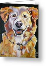 Golden Retriever Most Huggable Greeting Card