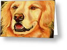 Golden Retriever Sweet As Sugar Greeting Card by Susan A Becker