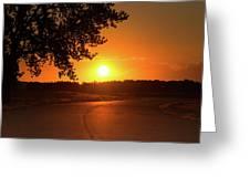 Golden Road Sunrise Greeting Card