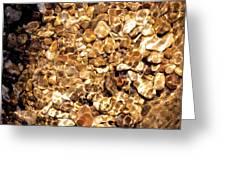 Golden Gravel Greeting Card