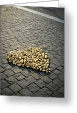 Golden Rocky Love Greeting Card