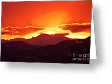 Golden Rocky Mountain Sunset Greeting Card
