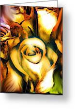 Golden Rose N Twilight Greeting Card