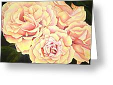 Golden Roses Greeting Card