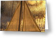 Golden Sails Greeting Card