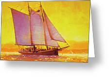 Golden Sea Greeting Card