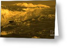Golden Sea Waves Graphic Digital Poster Art By Navinjoshi At Fineartamerica.com Ideal For Wall Decor Greeting Card