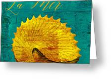 Golden Shell Greeting Card