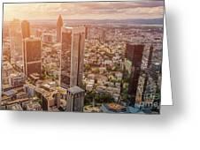 Golden Skyscrapers Of Frankfurt Greeting Card