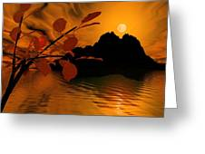 Golden Slumber Fills My Dreams. Greeting Card