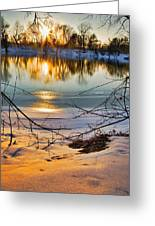 Golden Snow Greeting Card
