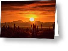 Golden Southwest Sunset  Greeting Card