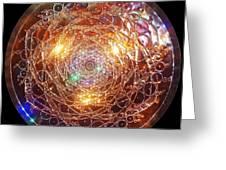 Golden Spiral Copper Lightmandala Greeting Card by Robert Thalmeier