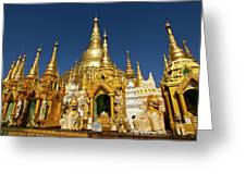 Golden Spires Greeting Card