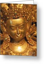 Golden Statue Greeting Card