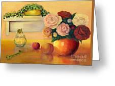 Golden Still Life Greeting Card