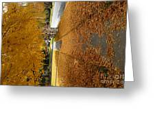 Golden Streets Greeting Card