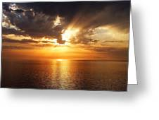 Golden Sun Greeting Card by Julian Perry