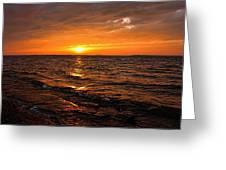 Golden Sundown Greeting Card