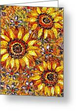 Golden Sunflower Greeting Card