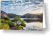 Golden Sunrise - Canyon Lake Greeting Card