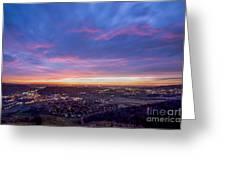 Golden Sunrise Greeting Card