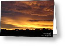 Golden Sunset 1 Greeting Card