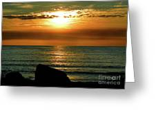 Golden Sunset At The Beach IIi Greeting Card