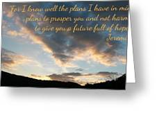 Golden Sunset With Verse Greeting Card