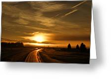 Golden Sunsets Greeting Card