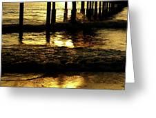 Golden Surf Greeting Card