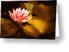 Golden Swamp Flower Greeting Card