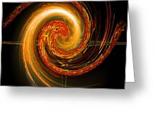 Golden Swirl Greeting Card