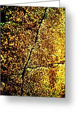 Golden Texture Abstract Greeting Card