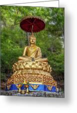 Golden Thai Buddha Greeting Card