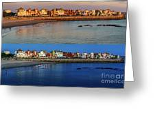 Golden To Blue Hour Puerto Sherry Cadiz Spain Greeting Card