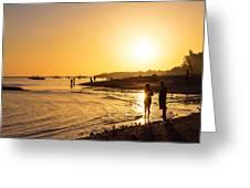 Golden Tropics Hot Beach Sun Greeting Card