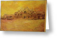 Golden Venice Greeting Card