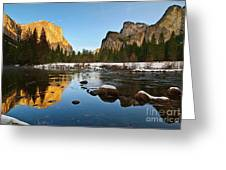 Golden View - Yosemite National Park. Greeting Card